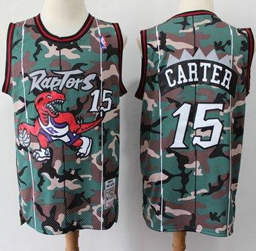 Raptors #15 Vince Carter Camo Basketball Swingman Jersey