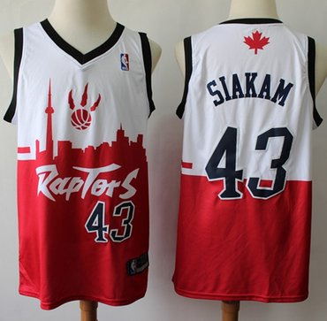 Raptors #43 Pascal Siakam White Red Basketball Swingman City Edition Jersey