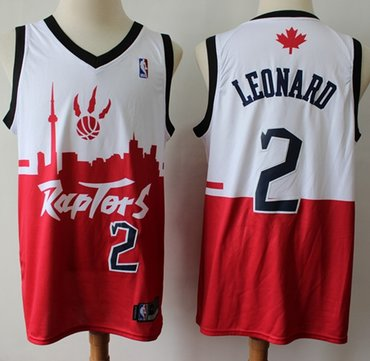 Raptors #2 Kawhi Leonard White Red Basketball Swingman City Edition Jersey