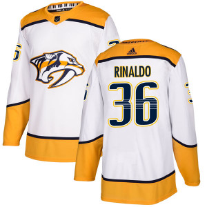 Adidas #36 Zac Rinaldo Nashville Predators Men's Authentic Away White Jersey