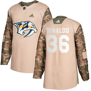 Adidas #36 Zac Rinaldo Nashville Predators Men's Authentic Veterans Day Practice Camo Jersey