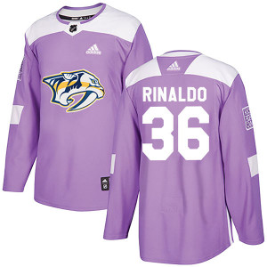 Adidas #36 Zac Rinaldo Nashville Predators Men's Authentic Fights Cancer Practice Purple Jersey