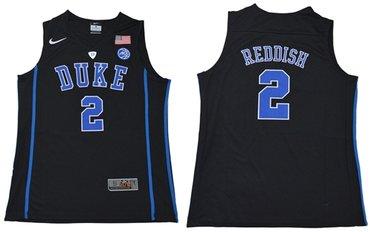 Blue Devils #2 Cameron Reddish Black Basketball Elite Stitched College Jersey