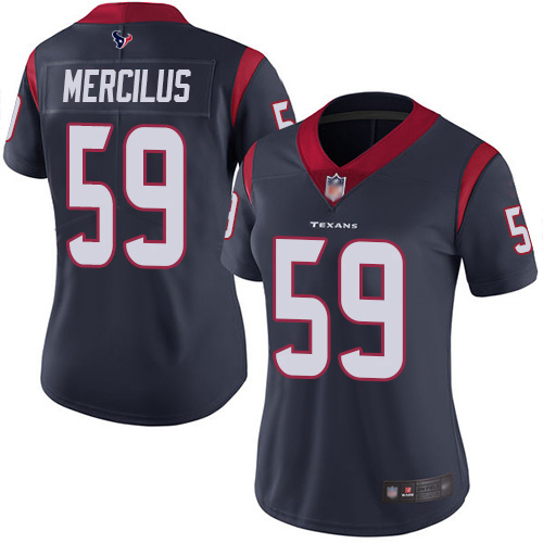 Texans #59 Whitney Mercilus Navy Blue Team Color Women's Stitched Football Vapor Untouchable Limited Jersey
