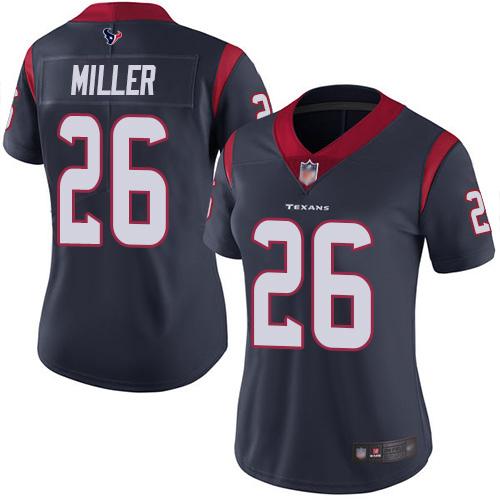 Texans #26 Lamar Miller Navy Blue Team Color Women's Stitched Football Vapor Untouchable Limited Jersey