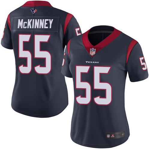 Texans #55 Benardrick McKinney Navy Blue Team Color Women's Stitched Football Vapor Untouchable Limited Jersey