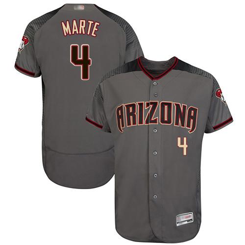 Diamondbacks #4 Ketel Marte Gray Flexbase Authentic Collection Stitched Baseball Jersey
