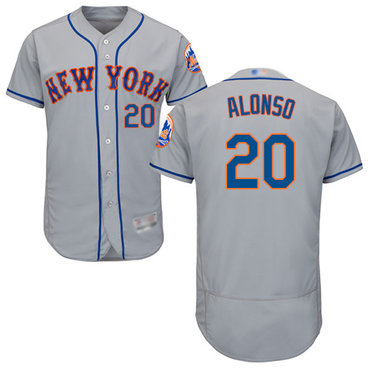 Mets #20 Pete Alonso Grey Flexbase Authentic Collection Stitched Baseball Jersey