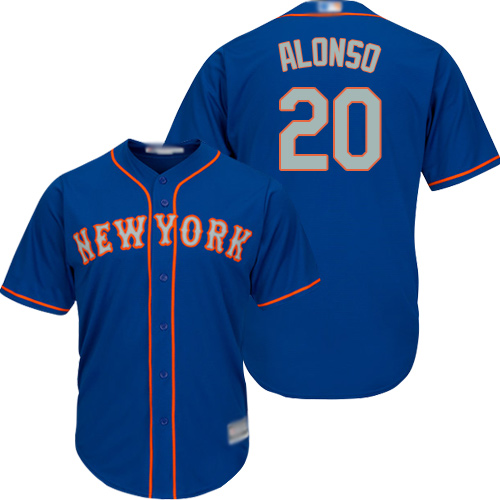 Mets #20 Pete Alonso Blue New Cool Base Alternate Home Stitched Baseball Jersey