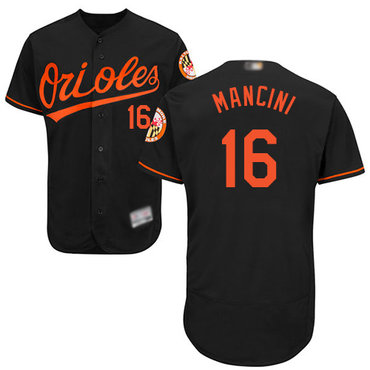 Orioles #16 Trey Mancini Black Flexbase Authentic Collection Stitched Baseball Jersey