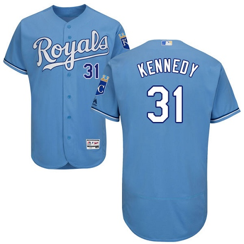 Royals #31 Ian Kennedy Light Blue Flexbase Authentic Collection Stitched Baseball Jersey