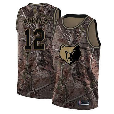 Grizzlies #12 Ja Morant Camo Basketball Swingman Realtree Collection Jersey