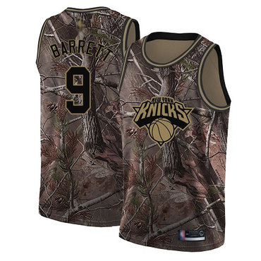 Knicks #9 R.J. Barrett Camo Basketball Swingman Realtree Collection Jersey