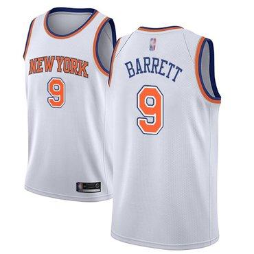 Knicks #9 R.J. Barrett White Basketball Swingman Statement Edition Jersey