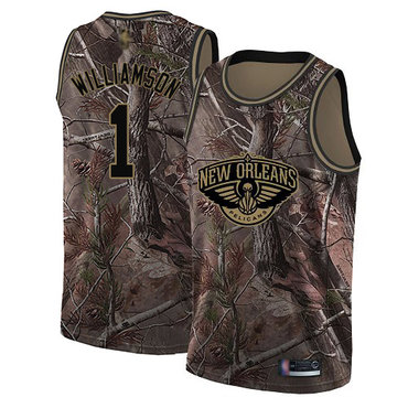 Pelicans #1 Zion Williamson Camo Basketball Swingman Realtree Collection Jersey