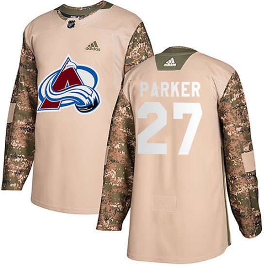 Men's Colorado Avalanche #27 Scott Parker Adidas Authentic Veterans Day Practice Camo Jersey
