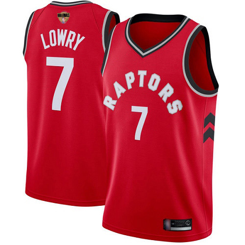 Raptors #7 Kyle Lowry Red 2019 Finals Bound Women's Basketball Swingman Icon Edition Jersey