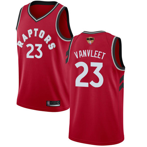 Raptors #23 Fred VanVleet Red 2019 Finals Bound Women's Basketball Swingman Icon Edition Jersey
