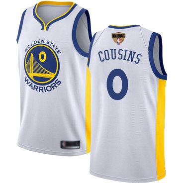 Warriors #0 DeMarcus Cousins White 2019 Finals Bound Basketball Swingman Association Edition Jersey
