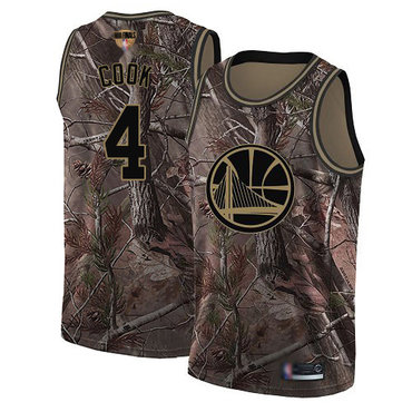 Warriors #4 Quinn Cook Camo 2019 Finals Bound Basketball Swingman Realtree Collection Jersey