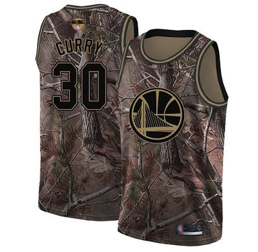 Warriors #30 Stephen Curry Camo 2019 Finals Bound Basketball Swingman Realtree Collection Jersey