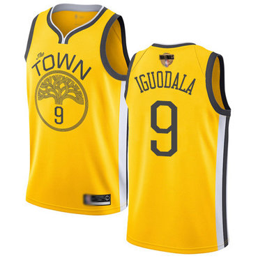 Warriors #9 Andre Iguodala Gold 2019 Finals Bound Basketball Swingman Earned Edition Jersey