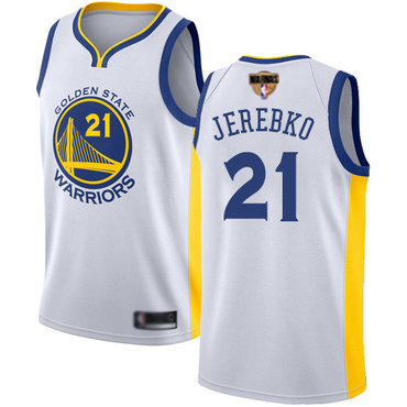 Warriors #21 Jonas Jerebko White 2019 Finals Bound Basketball Swingman Association Edition Jersey