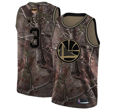 Warriors #3 David West Camo 2019 Finals Bound Basketball Swingman Realtree Collection Jersey