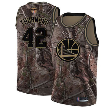 Warriors #42 Nate Thurmond Camo 2019 Finals Bound Basketball Swingman Realtree Collection Jersey