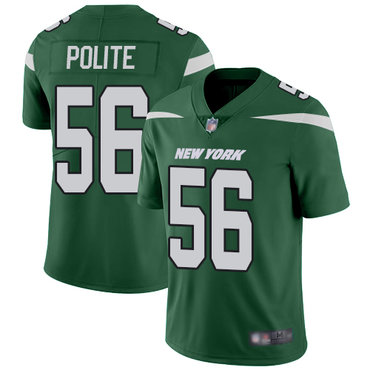 Jets #56 Jachai Polite Green Team Color Men's Stitched Football Vapor Untouchable Limited Jersey