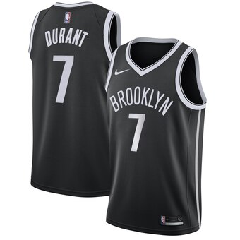 Men's Brooklyn Nets #7 Kevin Durant Nike Black 2019-20 Swingman Icon Edition Jersey