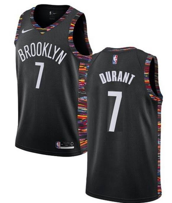 Mens Brooklyn Nets #7 Kevin Durant Nike Black City Edition 2019-20 Jersey