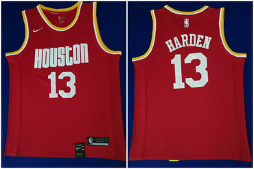 Rockets 13 James Harden Red Nike Swingman Jersey
