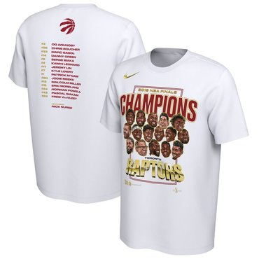 Toronto Raptors Nike 2019 NBA Finals Champions Celebration Roster Performance T-Shirt White