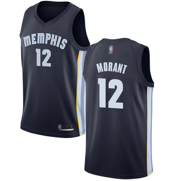 Youth Grizzlies #12 Ja Morant Navy Blue Youth Basketball Swingman Icon Edition Jersey