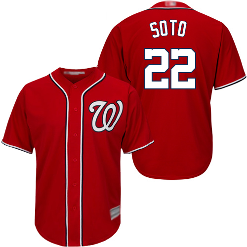 Youth Nationals #22 Juan Soto Red Cool Base Stitched Baseball Jersey