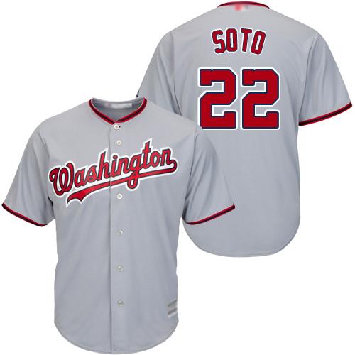 Youth Nationals #22 Juan Soto Grey Cool Base Stitched Baseball Jersey