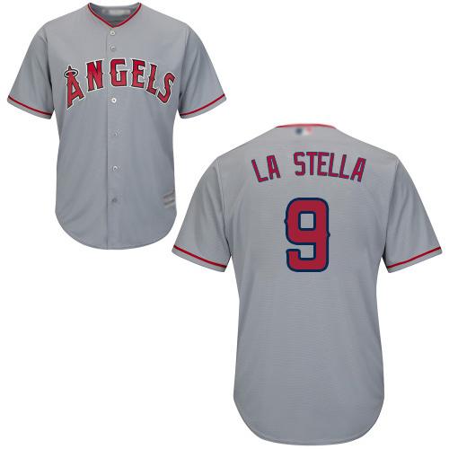Angels of Anaheim #9 Tommy La Stella Grey New Cool Base Stitched Baseball Jersey