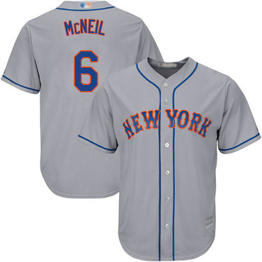 Mets #6 Jeff McNeil Grey New Cool Base Stitched Baseball Jersey