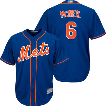 Mets #6 Jeff McNeil Blue New Cool Base Stitched Baseball Jersey