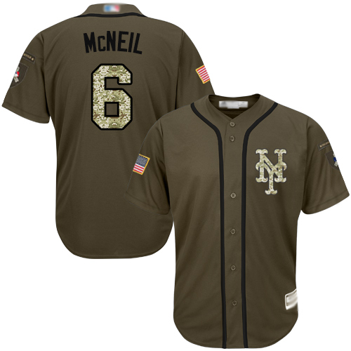 Mets #6 Jeff McNeil Green Salute to Service Stitched Baseball Jersey