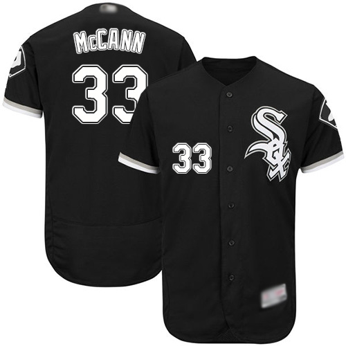 White Sox #33 James McCann Black Flexbase Authentic Collection Stitched Baseball Jersey