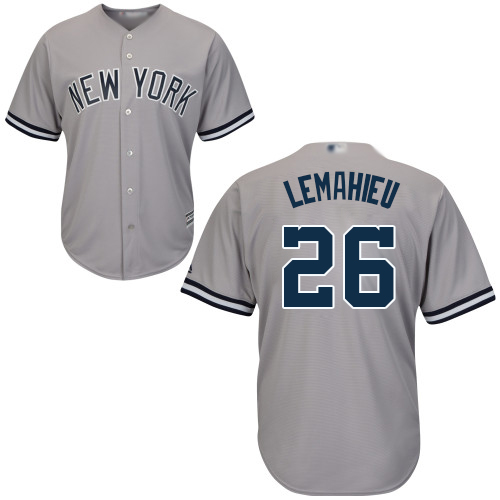 Yankees #26 DJ LeMahieu Grey New Cool Base Stitched Baseball Jersey