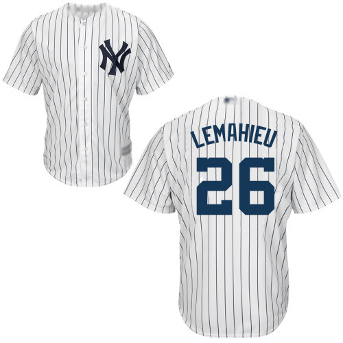 Yankees #26 DJ LeMahieu White Strip New Cool Base Stitched Baseball Jersey