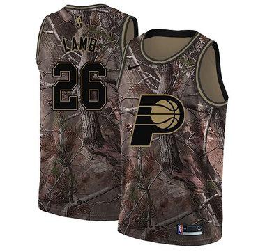 Nike Pacers #26 Jeremy Lamb Camo NBA Swingman Realtree Collection Jersey