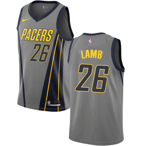 Nike Pacers #26 Jeremy Lamb Gray NBA Swingman City Edition 2018-19 Jersey