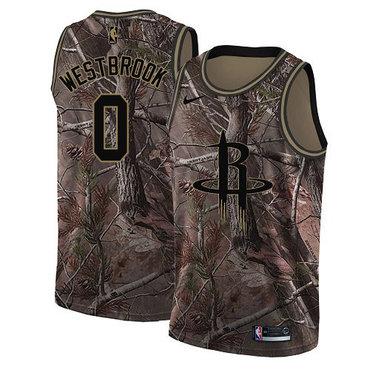 Nike Rockets #0 Russell Westbrook Camo NBA Swingman Realtree Collection Jersey