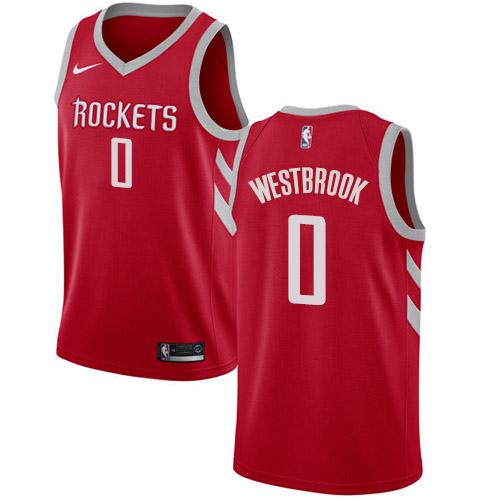 Nike Rockets #0 Russell Westbrook Red NBA Swingman Icon Edition Jersey