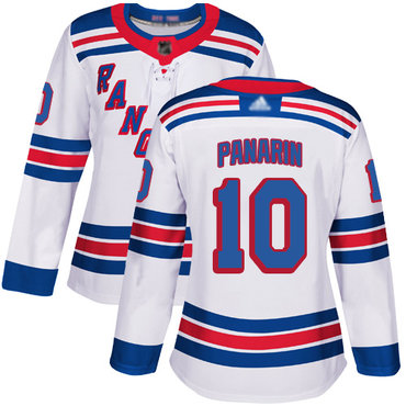Rangers #10 Artemi Panarin White Road Authentic Women's Stitched Hockey Jersey
