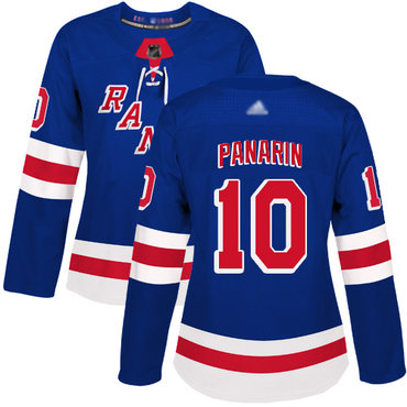 Rangers #10 Artemi Panarin Royal Blue Home Authentic Women's Stitched Hockey Jersey